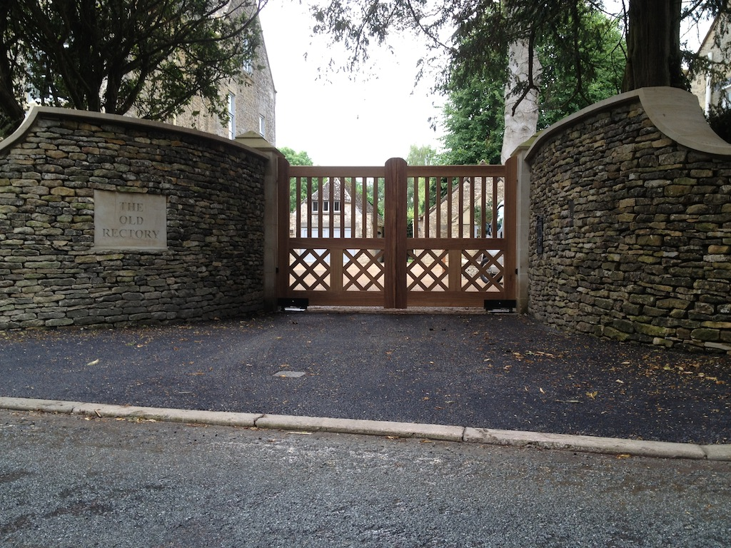 Old Rectory Bespoke Hardwood Gates with Underground