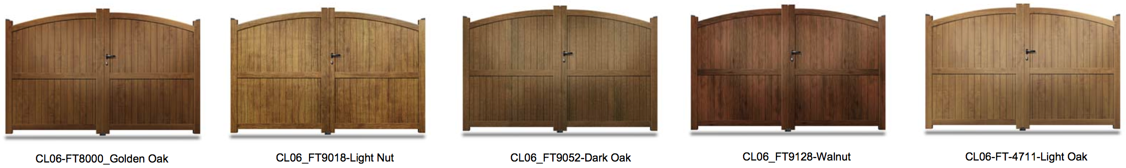 CL06 Wood Effect Aluminium Gate