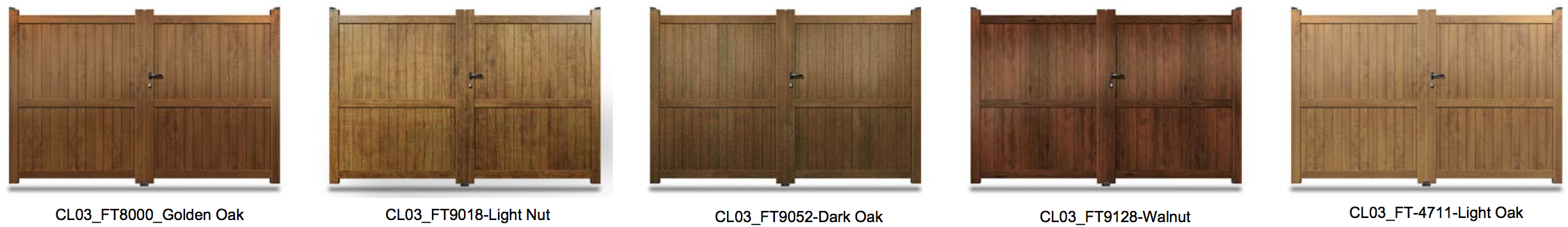 CL03 Wood Effect Aluminium Gate