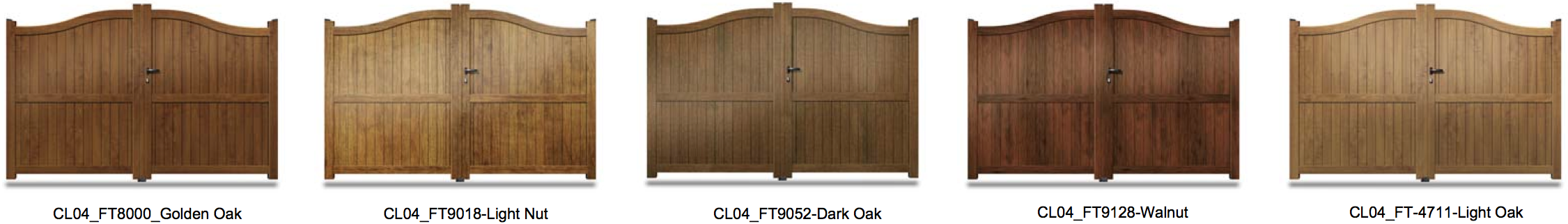 CL04 Wood Effect Aluminium Gate